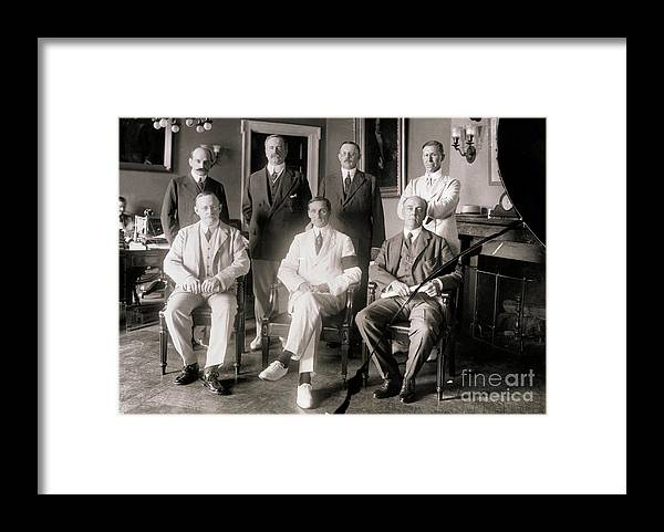 Central Bank Framed Print featuring the photograph Members Of Federal Reserve Board by Bettmann