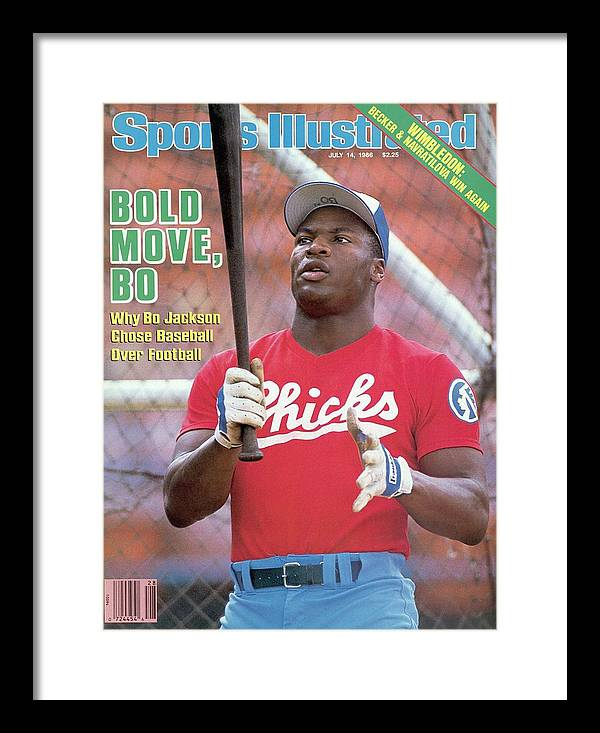 1980-1989 Framed Print featuring the photograph Memphis Chicks Bo Jackson, Class Aa Southern League Sports Illustrated Cover by Sports Illustrated