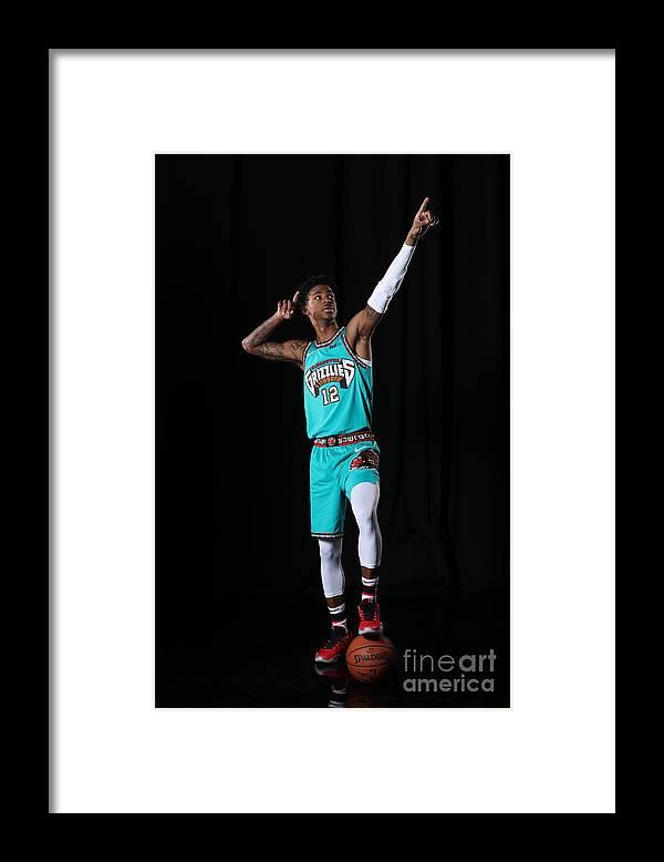 Nba Pro Basketball Framed Print featuring the photograph Memphis Grizzlies Portrait Shoot In by Joe Murphy