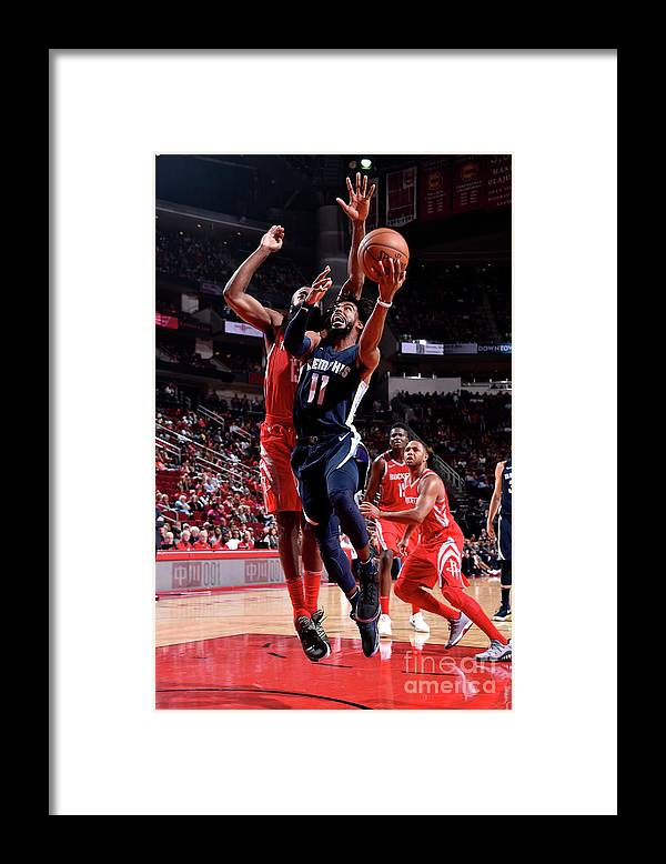 Nba Pro Basketball Framed Print featuring the photograph Memphis Grizzlies V Houston Rockets by Bill Baptist