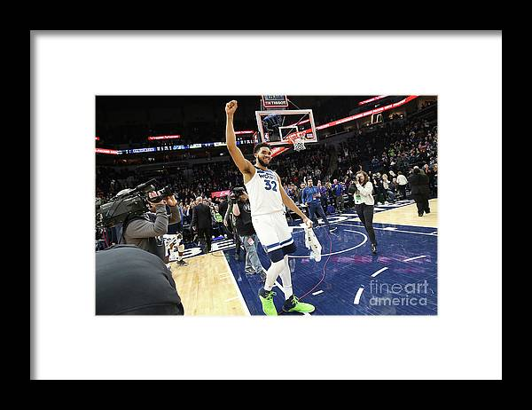 Nba Pro Basketball Framed Print featuring the photograph Memphis Grizzlies V Minnesota by David Sherman
