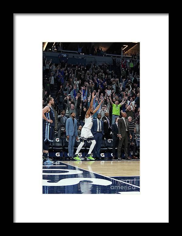 Nba Pro Basketball Framed Print featuring the photograph Memphis Grizzlies V Minnesota by Jordan Johnson