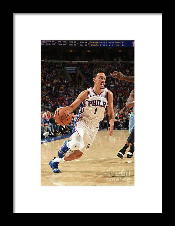 Nba Pro Basketball Framed Print featuring the photograph Memphis Grizzlies V Philadelphia 76ers by David Dow