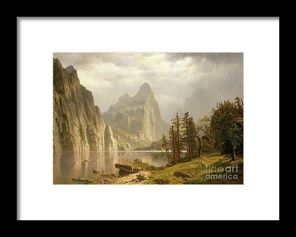 Oil Painting Framed Print featuring the drawing Merced River by Heritage Images