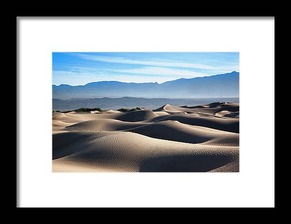 Scenics Framed Print featuring the photograph Mesquite Flat Sand Dunes by Walter Bibikow