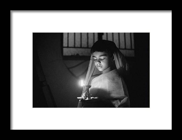 Kid Framed Print featuring the photograph Messenger Of Peace by Partha Sarathi Dalal