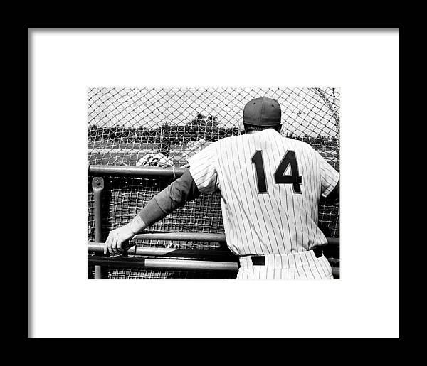 Baseball Catcher Framed Print featuring the photograph Mets Manager Gil Hodges Gets Catchers by New York Daily News Archive