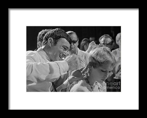 Inch Framed Print featuring the photograph Mia Farrow Receiving Hairstyle by Bettmann