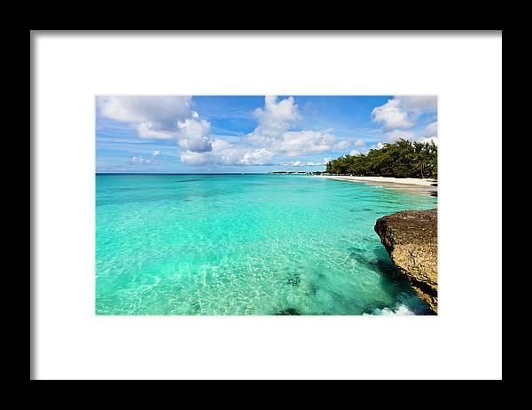 Water's Edge Framed Print featuring the photograph Miami Beach, Barbados by Flavio Vallenari