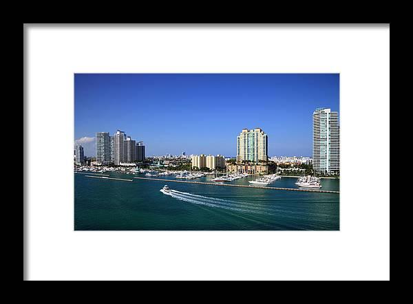 Built Structure Framed Print featuring the photograph Miami Beach Marina by Jorgegonzalez