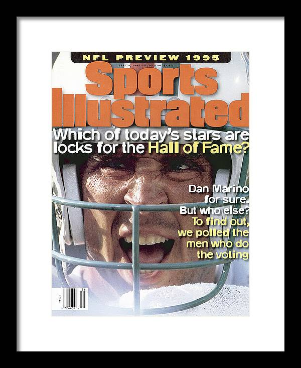 Magazine Cover Framed Print featuring the photograph Miami Dolphins Qb Dan Marino, 1995 Nfl Football Preview Sports Illustrated Cover by Sports Illustrated
