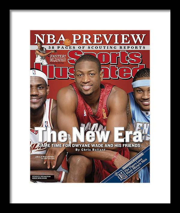 Magazine Cover Framed Print featuring the photograph Miami Heat Dwyane Wade Sports Illustrated Cover by Sports Illustrated