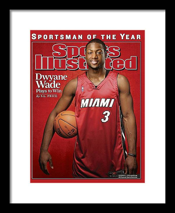 Nba Pro Basketball Framed Print featuring the photograph Miami Heat Dwyane Wade Sports Illustrated Cover by Sports Illustrated