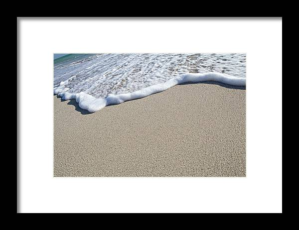 Water's Edge Framed Print featuring the photograph Miami South Beach Sand And Surf by Inhauscreative