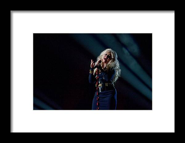 Event Framed Print featuring the photograph Michael Forever Tribute Concert At by Neil Lupin