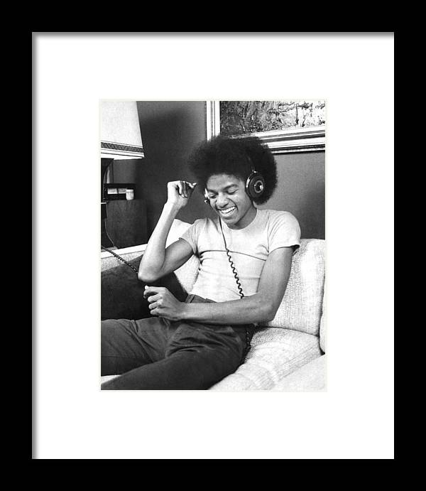Singer Framed Print featuring the photograph Michael Jackson, The Lead Singer Of by New York Daily News Archive