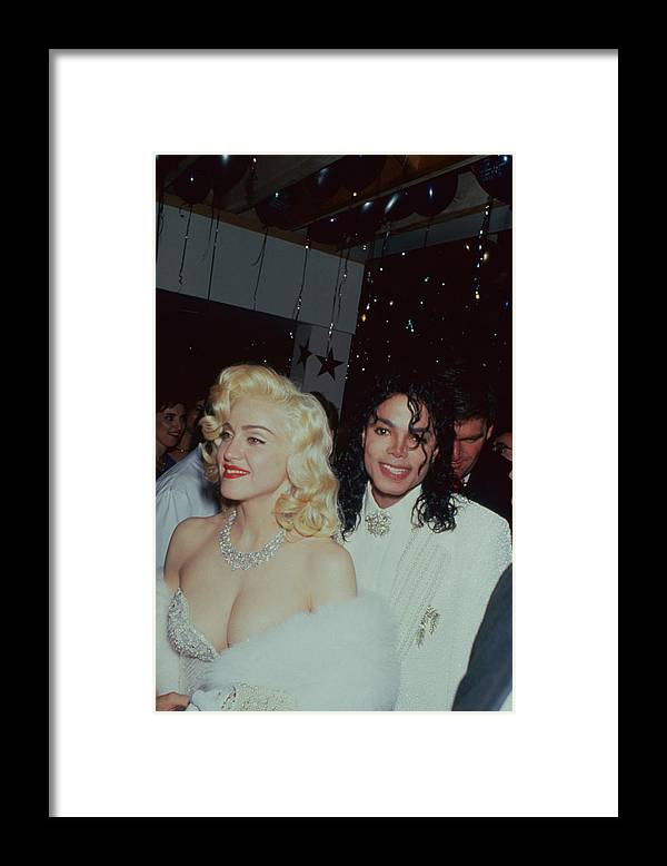 Singer Framed Print featuring the photograph Michael Jacksonmadonna by Time Life Pictures