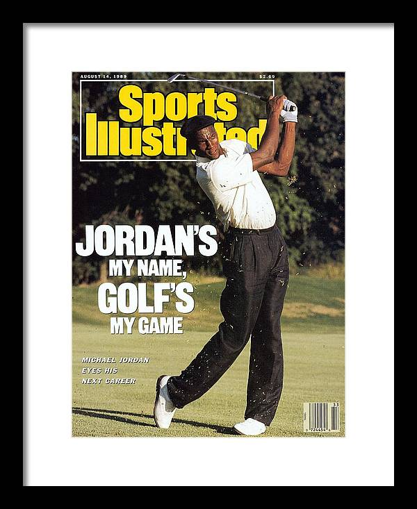 1980-1989 Framed Print featuring the photograph Michael Jordan, 1989 St. Jude Classic Sports Illustrated Cover by Sports Illustrated