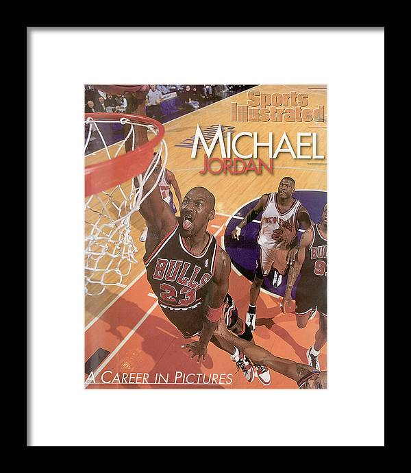 Nba Pro Basketball Framed Print featuring the photograph Michael Jordan A Career In Pictures Sports Illustrated Cover by Sports Illustrated
