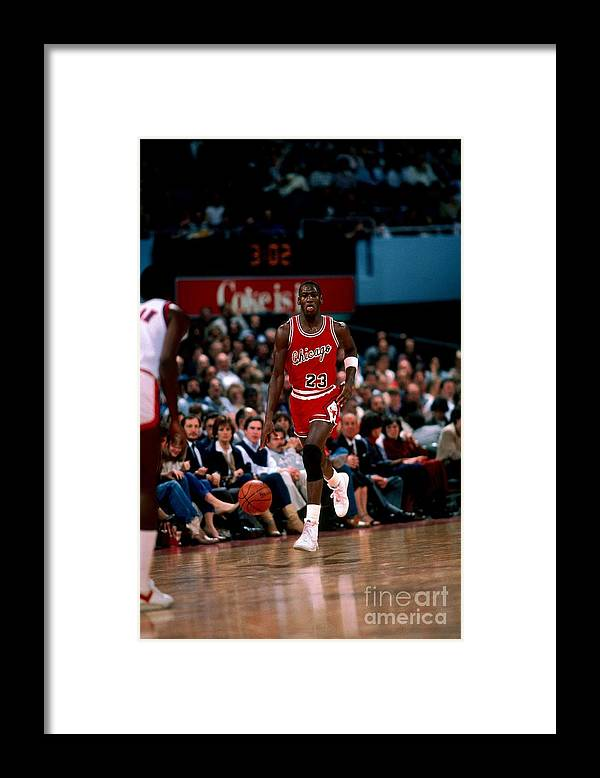 Chicago Bulls Framed Print featuring the photograph Michael Jordan by Peter Read Miller