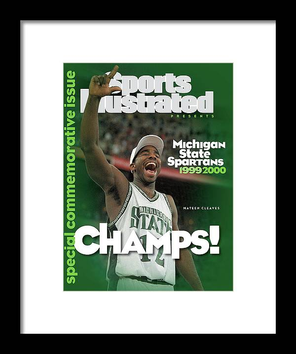 Michigan State University Framed Print featuring the photograph Michigan State University Mateen Cleaves, 2000 Ncaa Sports Illustrated Cover by Sports Illustrated