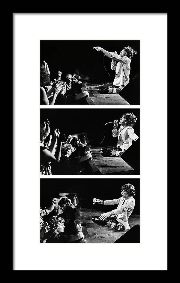 Atlanta Framed Print featuring the photograph Mick Jagger Of The Rolling Stones In by George Rose