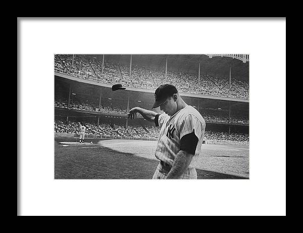 Timeincown Framed Print featuring the photograph Mickey Mantle by John Dominis
