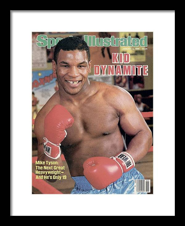 1980-1989 Framed Print featuring the photograph Mike Tyson, Heavyweight Boxing Sports Illustrated Cover by Sports Illustrated