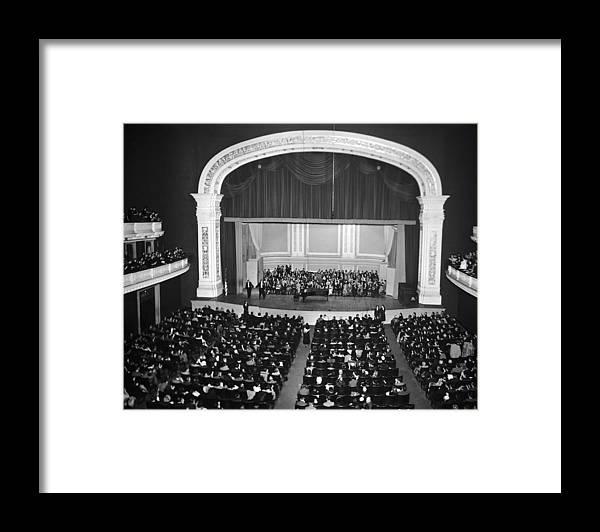 Singer Framed Print featuring the photograph Miklos Gafni Concert by Gabriel Hackett