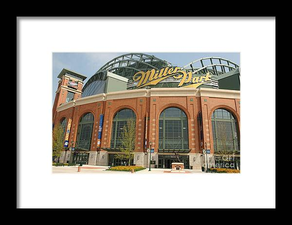 Wisconsin Framed Print featuring the photograph Miller Park Entrance by Jonathan Daniel