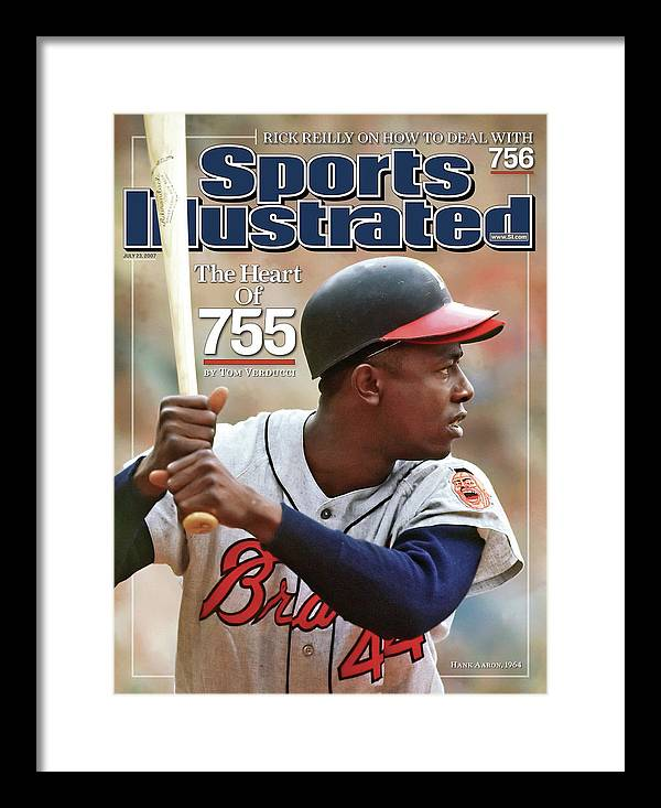 Magazine Cover Framed Print featuring the photograph Milwaukee Braves Hank Aaron Sports Illustrated Cover by Sports Illustrated