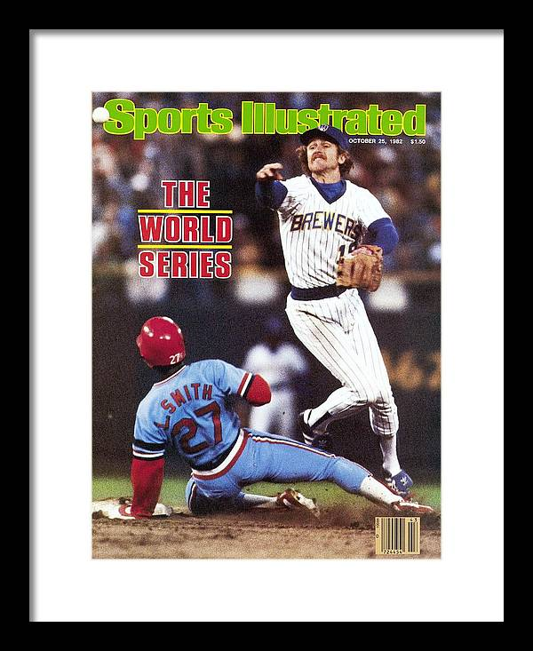 St. Louis Cardinals Framed Print featuring the photograph Milwaukee Brewers Robin Yount, 1982 World Series Sports Illustrated Cover by Sports Illustrated