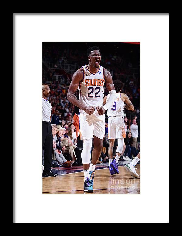 Nba Pro Basketball Framed Print featuring the photograph Milwaukee Bucks V Phoenix Suns by Michael Gonzales