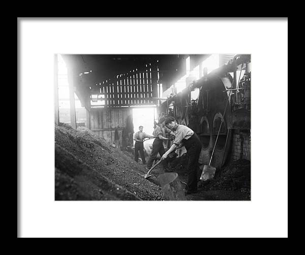 Miner Framed Print featuring the photograph Mine Ventilation by Topical Press Agency