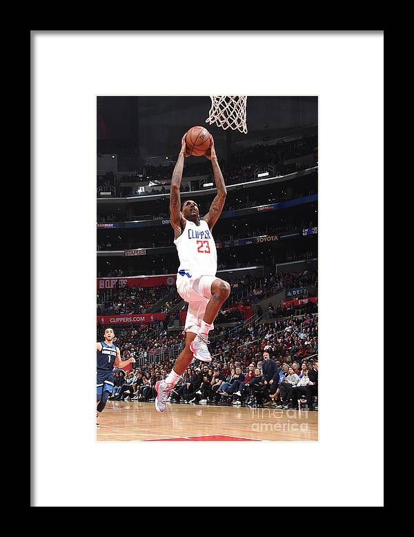 Nba Pro Basketball Framed Print featuring the photograph Minnesota Timberwolves V La Clippers by Andrew D. Bernstein