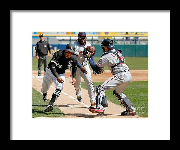 Second Inning Framed Print featuring the photograph Minnesota Twins V Chicago White Sox by Jon Durr