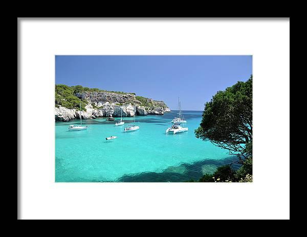 Scenics Framed Print featuring the photograph Minorca, Cala Macarella by Stefano Salvetti