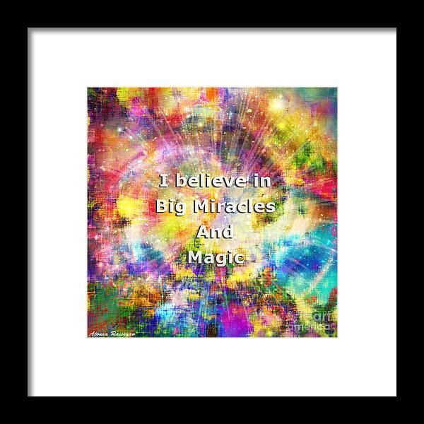 Colorful Framed Print featuring the photograph Miracle And Magic by Atousa Raissyan