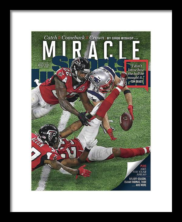 Magazine Cover Framed Print featuring the photograph Miracle Catch, Comeback, Crown Sports Illustrated Cover by Sports Illustrated