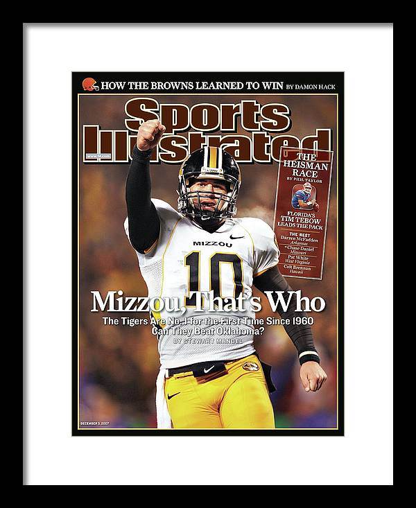 Magazine Cover Framed Print featuring the photograph Missouri University Qb Chase Daniel by Sports Illustrated Cover