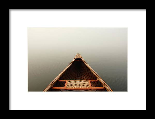 Outdoors Framed Print featuring the photograph Misty Canoe by Huntimages