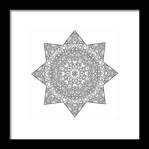 Coloring Books Framed Print featuring the drawing Mixed Coloring Book 1 by Kathy G. Ahrens