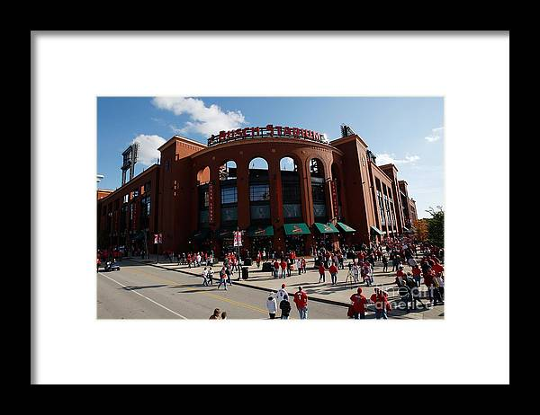 Playoffs Framed Print featuring the photograph Mo Los Angeles Dodgers V St. Louis by Ronald Martinez