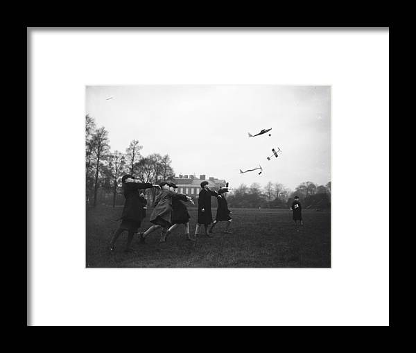 Child Framed Print featuring the photograph Model Aeroplanes by Fox Photos