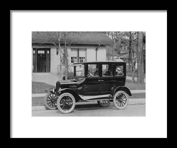 Suburb Framed Print featuring the photograph Model T Ford by Three Lions