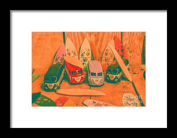 Vintage Framed Print featuring the photograph Modelling A Surfing Vacation by Jorgo Photography - Wall Art Gallery