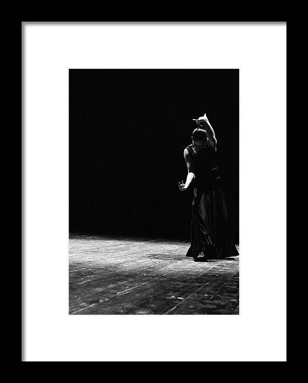 Ballet Dancer Framed Print featuring the photograph Modern Flamenco by T-immagini