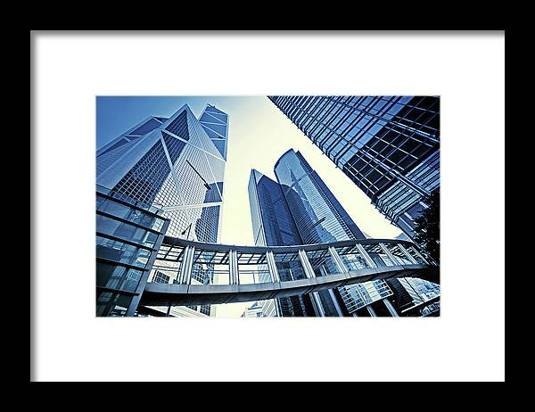 Corporate Business Framed Print featuring the photograph Modern Office Buildings by Nikada
