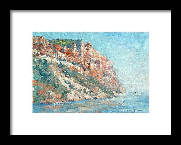 Cassis France Framed Print featuring the photograph Moment at Cassis by L Diane Johnson