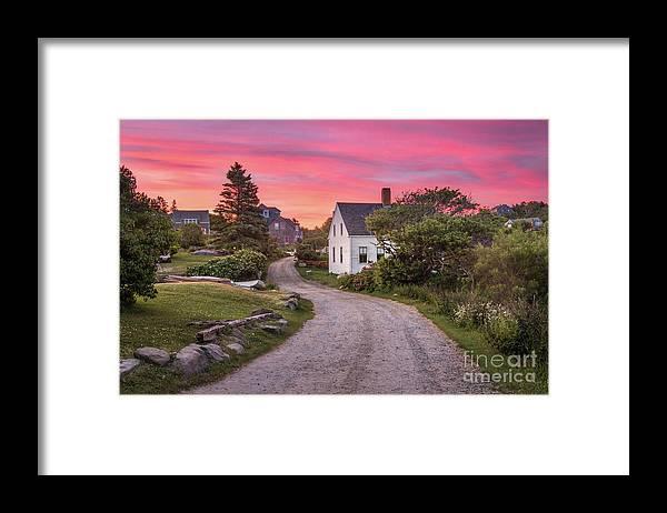 Art Framed Print featuring the photograph Monhegan Island Maine by Benjamin Williamson